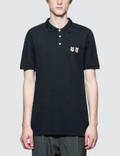 Maison Kitsune Double Fox Head Patch Polo Picutre