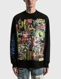 We11done Black Horror Collage Long Sleeve T-shirt Picture