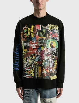We11done Black Horror Collage Long Sleeve T-shirt
