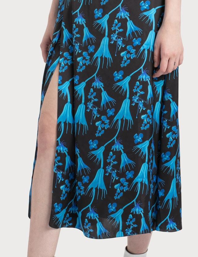 Marine Serre Wrap Midi Skirt In Radioactive Flower Print