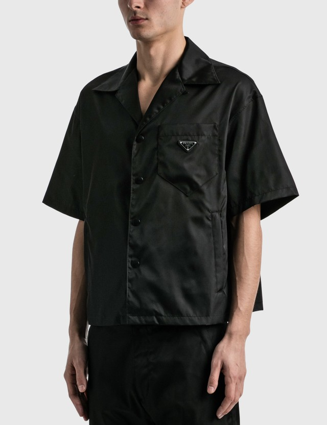 Prada Pocket Nylon Shirt Nero Men
