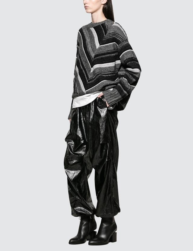 Helmut Lang Long Sleeve Ombre Crewneck