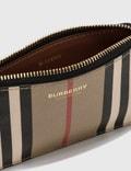 Burberry Icon Stripe E-canvas Zip Coin Case Archive Beige Women