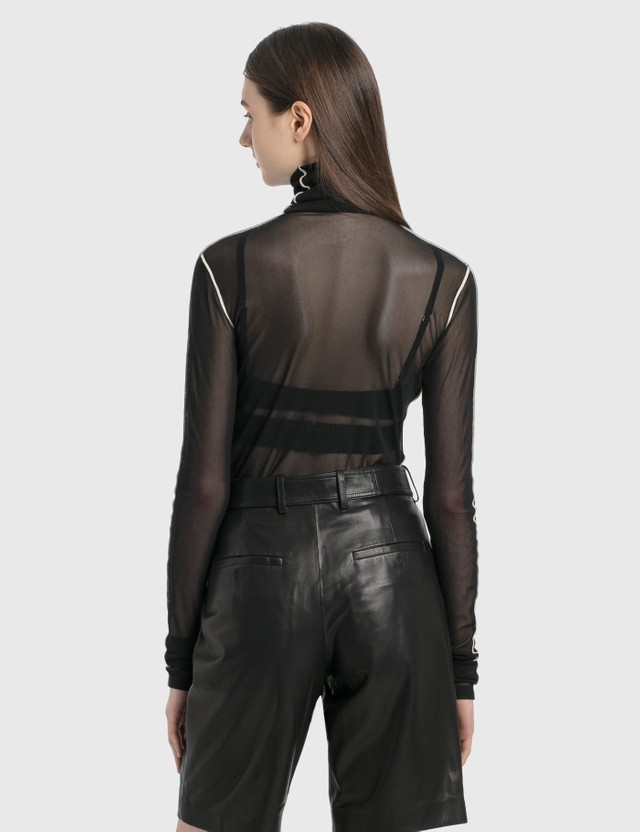 Helmut Lang Sheer Long Sleeve Top Black Women
