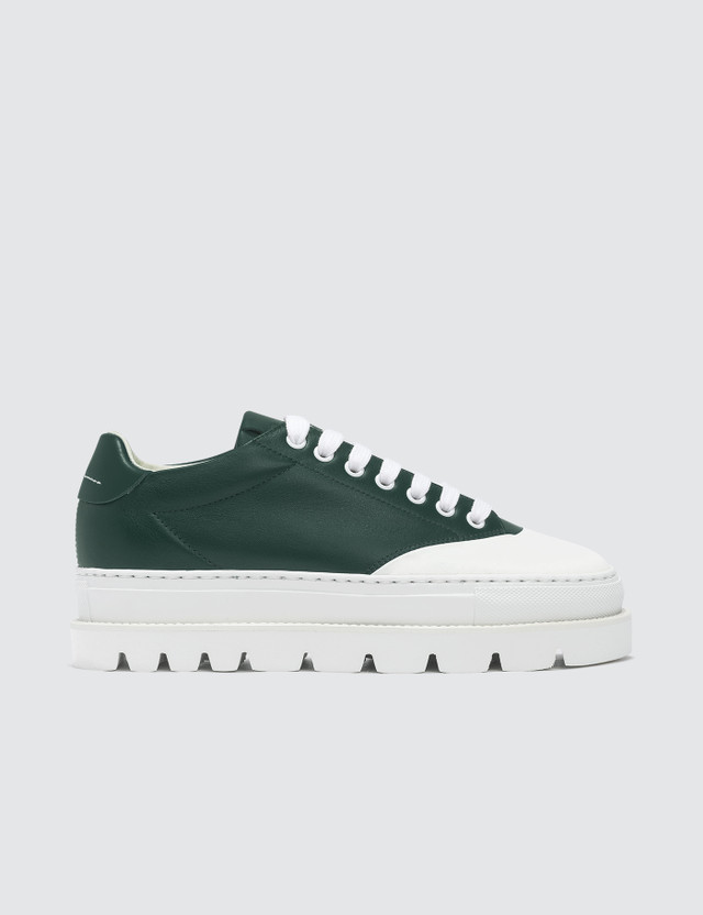 MM6 Maison Margiela Tractor Treat Platform Sneakers Green Women