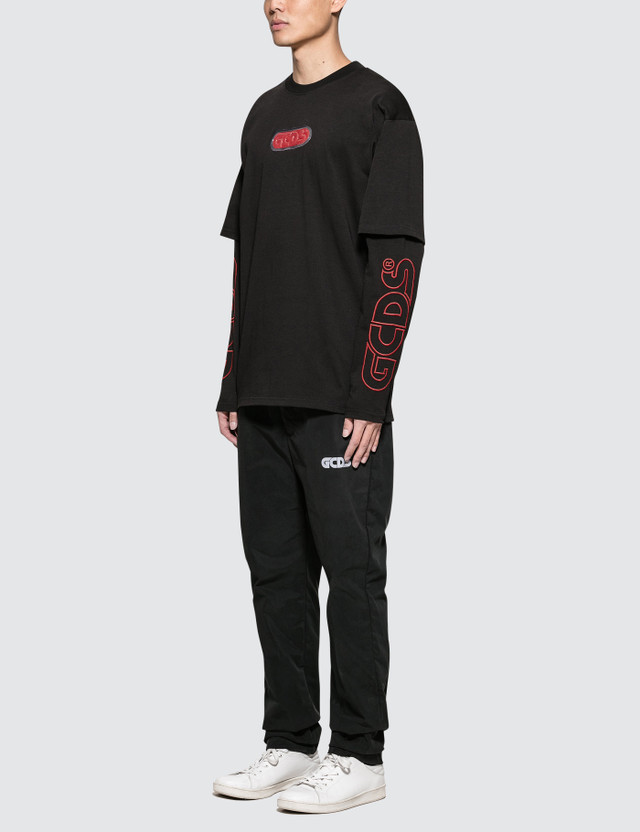 GCDS Double Sleeves L/S T-Shirt