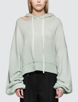 Unravel Project Terry Hoodie Cut Chopped Hoodie