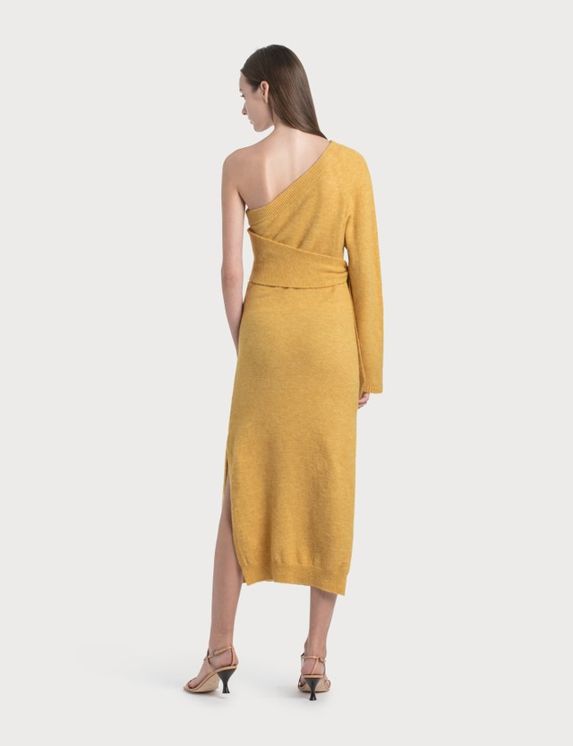 Nanushka Cedro Knit Dress Yellow Women