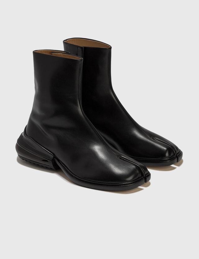 Maison Margiela Tabi Airbag Heel Boots Black/shiny Black Men