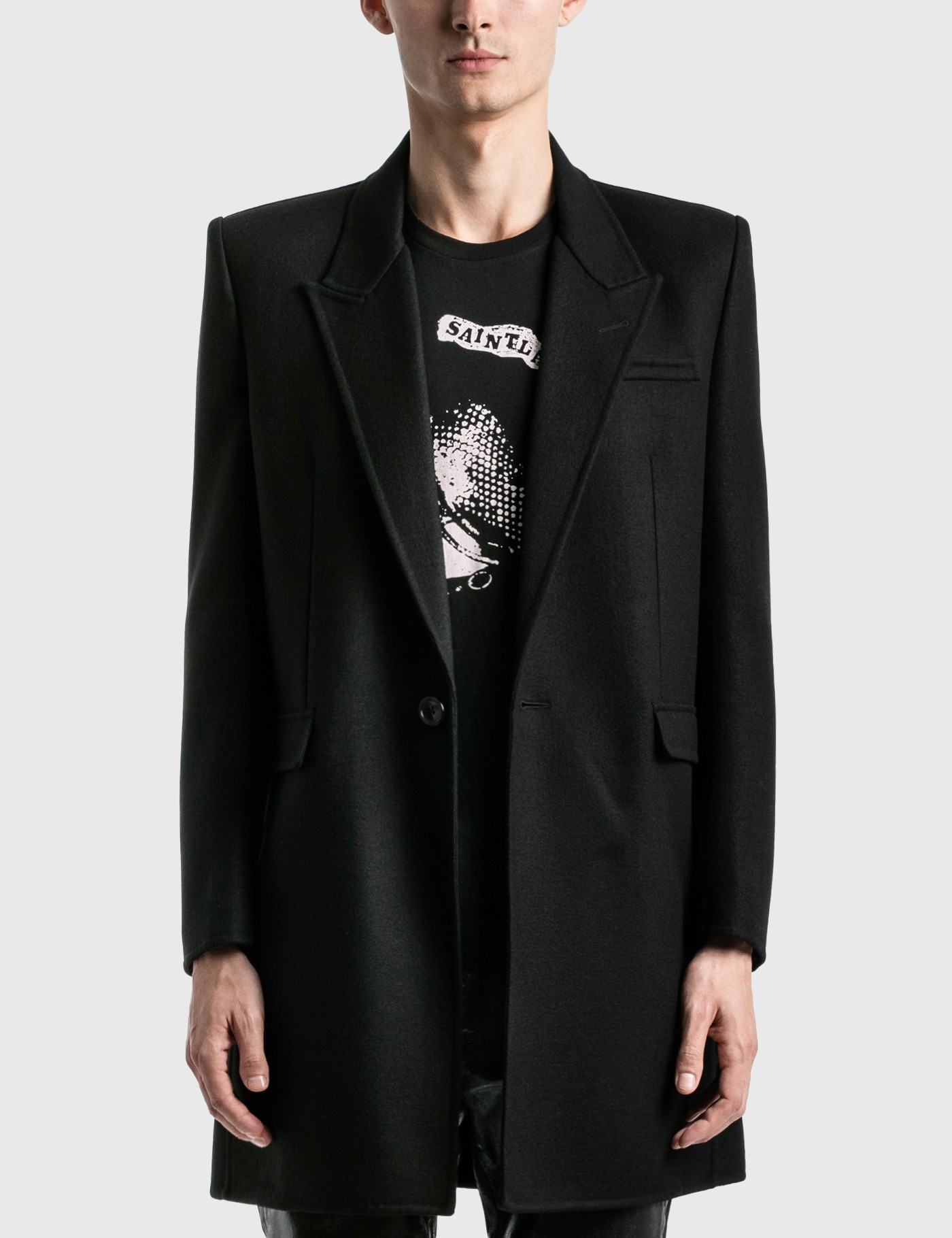 Saint Laurent Coats MANTEAU DOUBLE FACE COAT