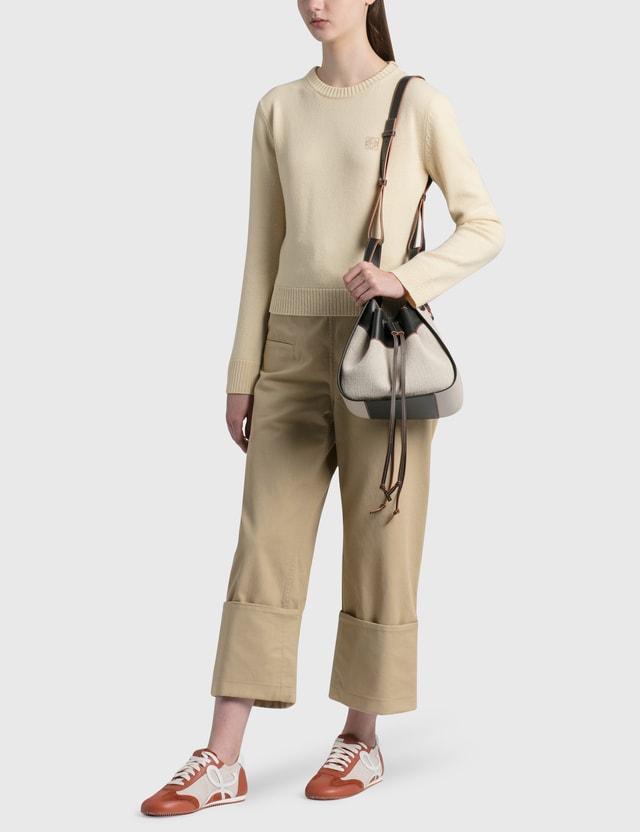 Loewe Small Drawstring Hammock Bag Light Oat/black Women