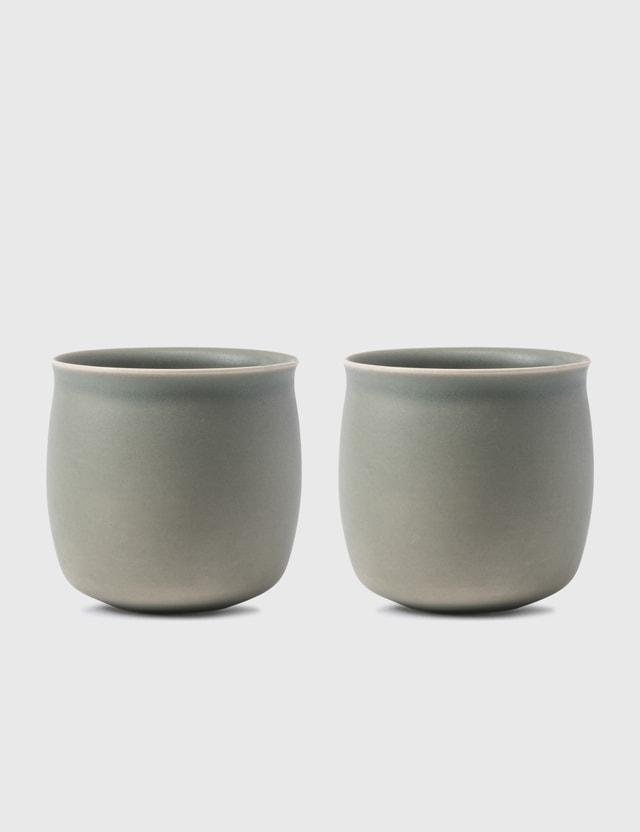 Raawii Alev Medium Cup Set Of 2 Olive Green Unisex
