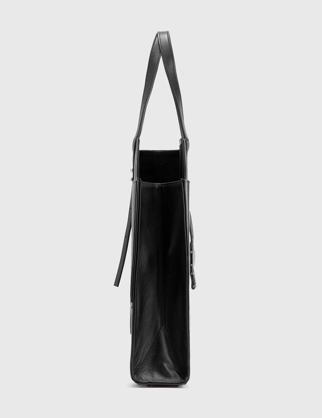 Heliot Emil Leather Tote Bag Black Men
