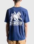 Stussy Post Modern Roots Pig Dyed T-Shirt Dark Blue Men
