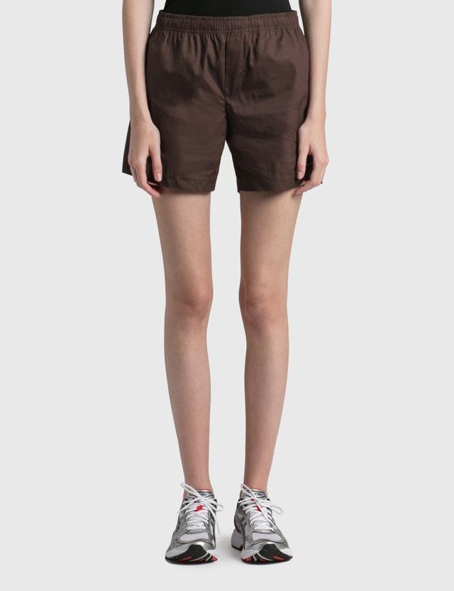 Daniëlle Cathari Deconstructed Cotton Shorts Chocolate Brown Women