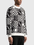 Rassvet Geometric Graphic Printed Sweater White Men