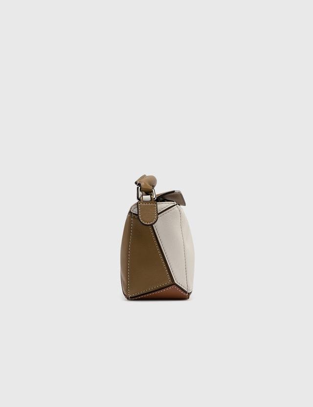Loewe Mini Puzzle Bag Ochre Green/soft White Women