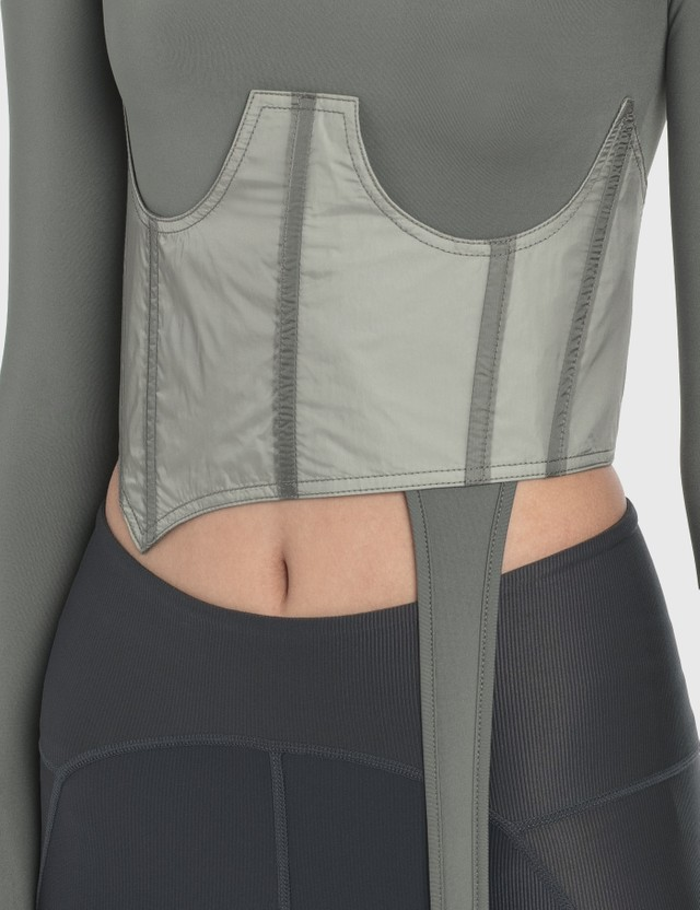 Hyein Seo Long Sleeve Top With Corset