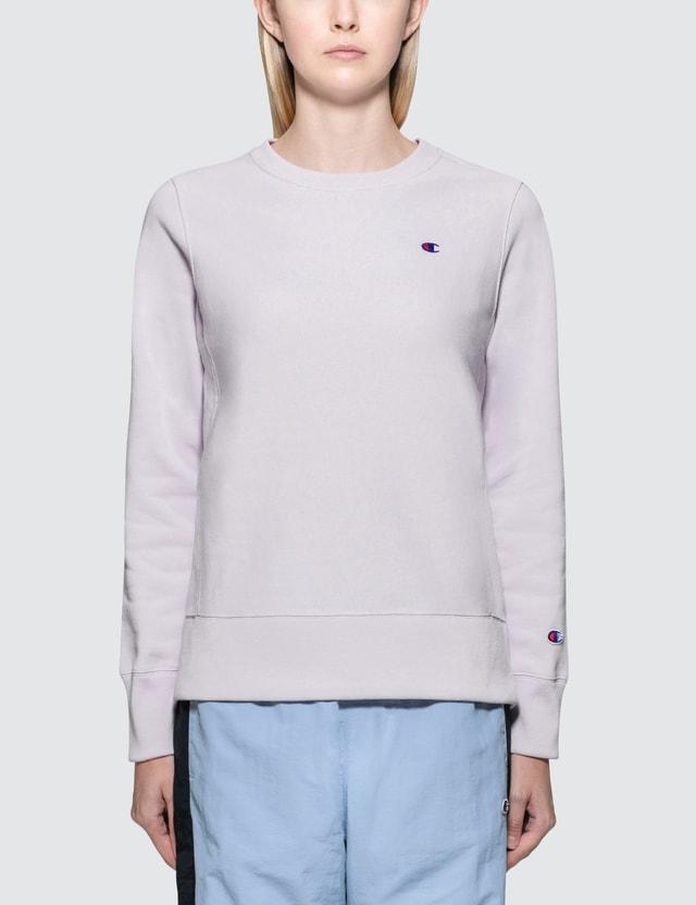 Champion Reverse Weave Small Logo Sweatshirt Purple Women