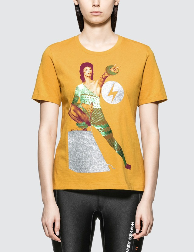 Undercover David Bowie T-shirt in Yellow