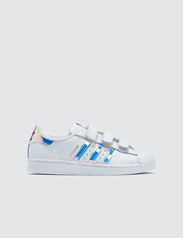 Adidas Originals Superstar CF Children White/metallic Silver-sld Kids