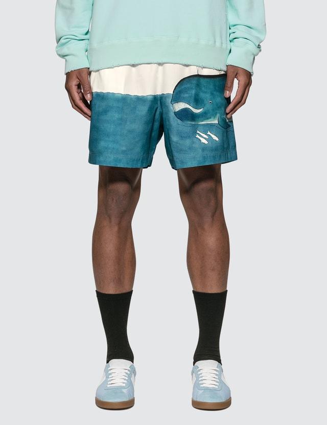 Lanvin Babar Print Swim Shorts