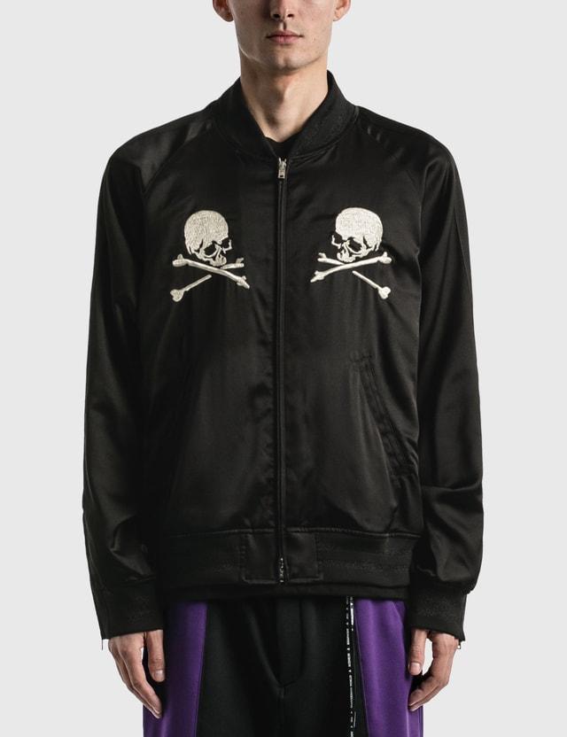 Mastermind World Silk Bomber Jacket Black Men