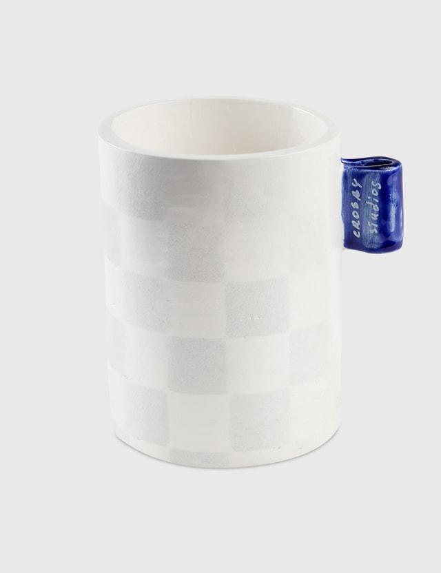 Crosby Studios Checkers Mug With Tag Grey Unisex