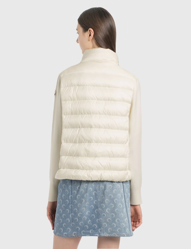 Moncler Tricot Cardigan With Down Fill