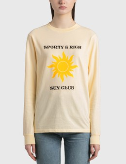Sporty & Rich S&R Sun Club Long Sleeve T-Shirt