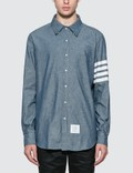 Thom Browne Straight Fit Chambray Shirt Picutre