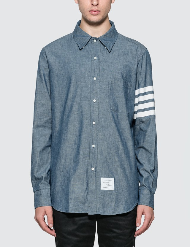 Thom Browne Straight Fit Chambray Shirt
