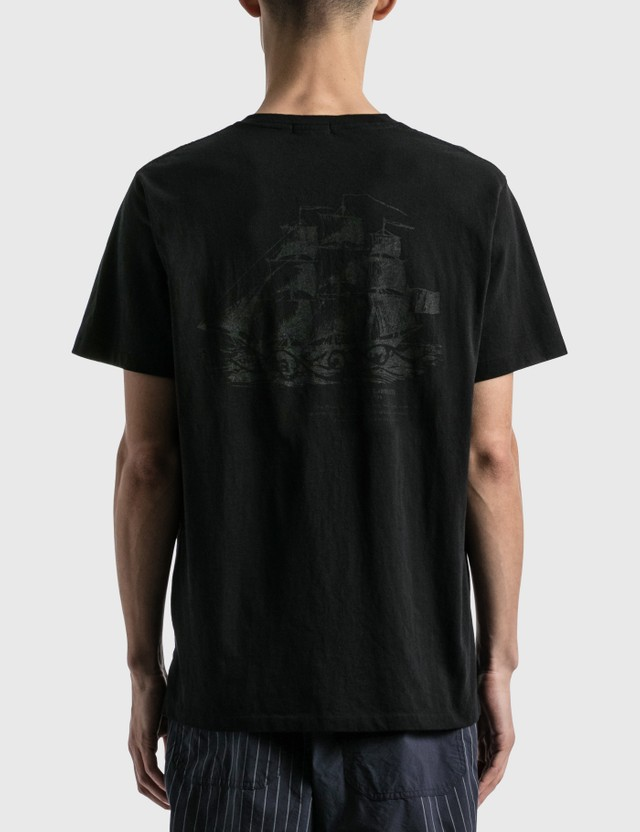 Engineered Garments Printed Cross Pocket T-shirt Black Men