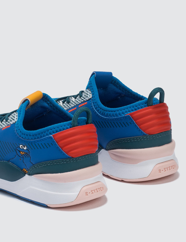 Puma Sesame Street x Puma Str 50 Rs-0 Kids Veiled Rose-indigo Bunting-blue Coral Kids