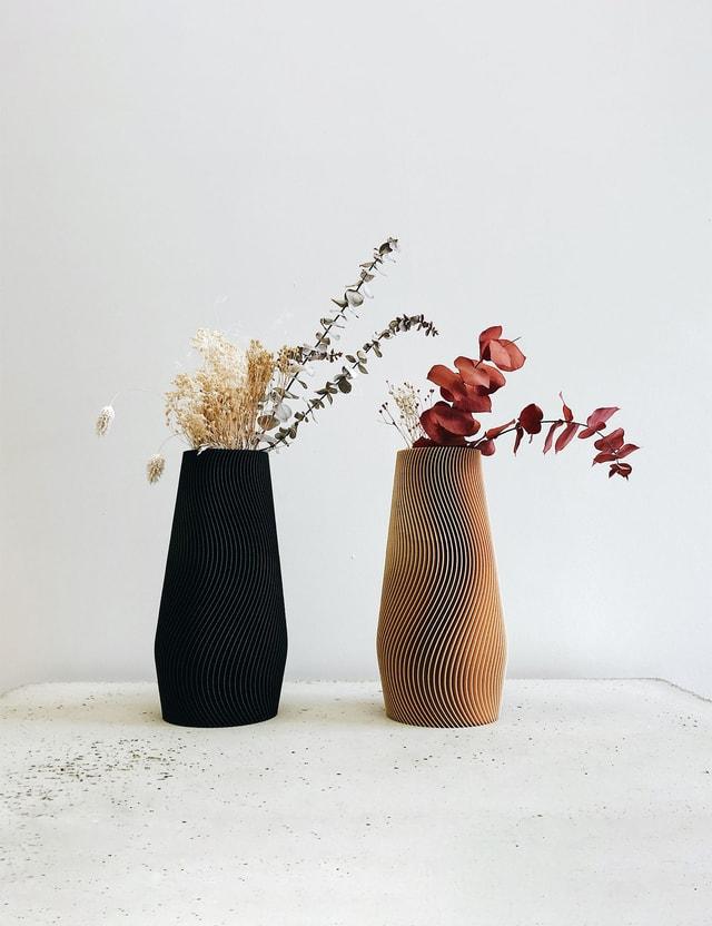 Minimum Design WAVE Vase Natural Life