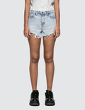 Alexander Wang.T Marbled Bleach Bite Short Picutre