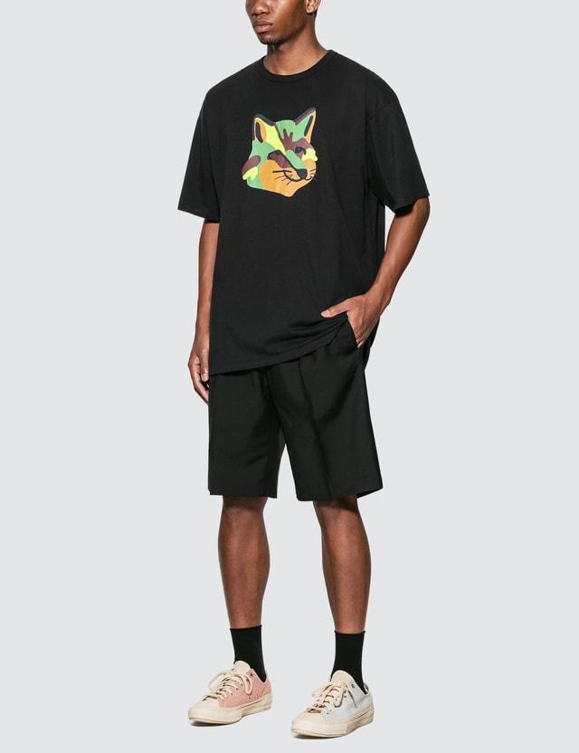 Maison Kitsune Neon Fox Print Oversized T-Shirt