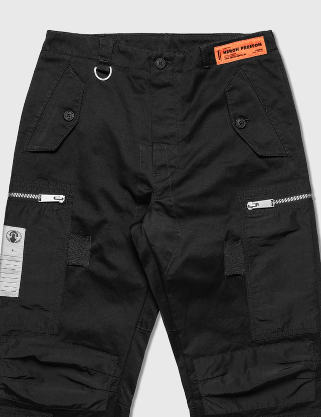 Heron Preston Military Cotton Nylon Pants Black Men