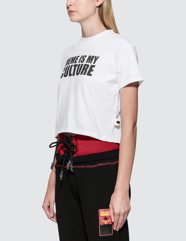 GCDS Meme S/S T-Shirt White Women
