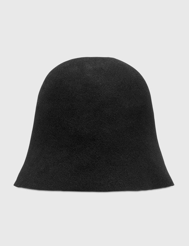 Palm Angels Bucket Hat Black White Women