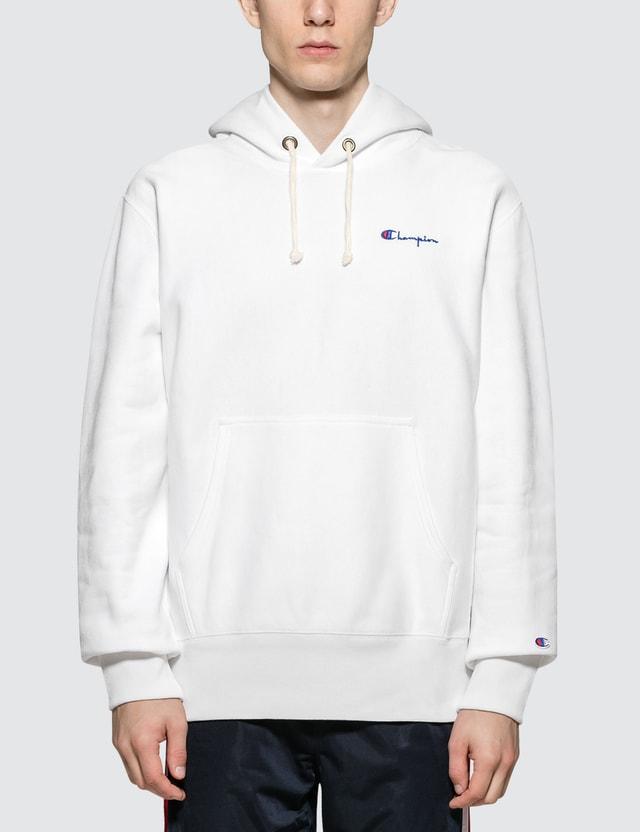 Champion Reverse Weave Small Script Logo Hoodie
