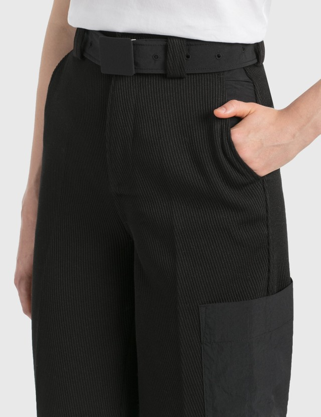 Ganni Twill Pants Black Women
