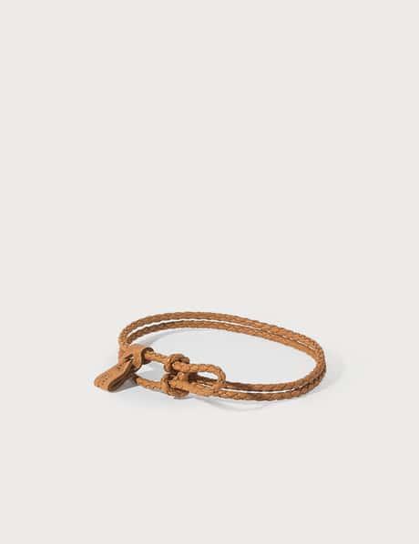 보테가 베네타 Bottega Veneta Woven Nappa Leather Bracelet