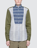 Loewe Patchwork Wing Collar Shirt Picture