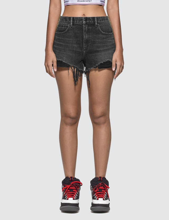 Alexander Wang.T Bite Clash Denim Shorts