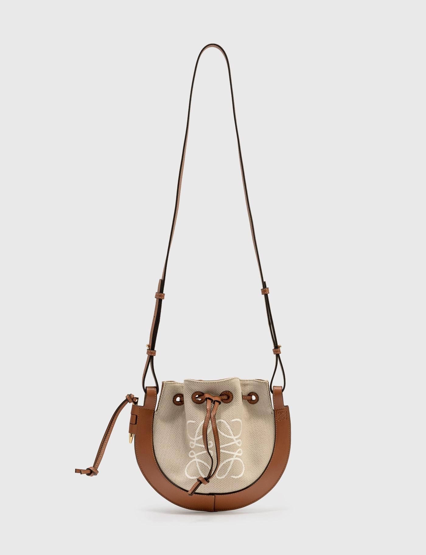 Loewe Small Horseshoe Anagram Bag In Neutrals