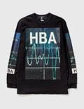 Hood By Air. Hood By Air Electrocardiogram Print Ls T-shirt Picutre