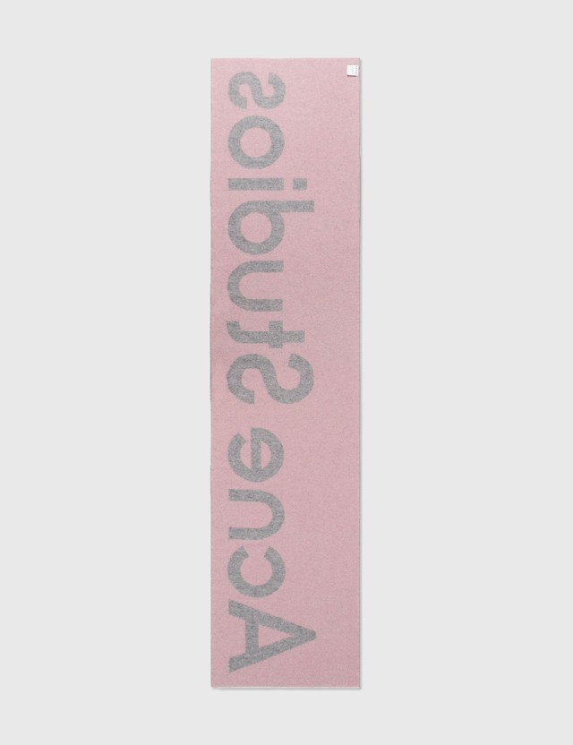 Acne Studios Toronty Logo Scarf Light Pink/grey Women