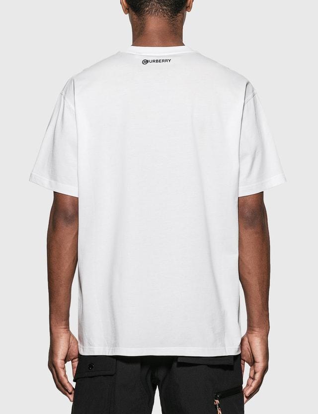 Burberry 글로브 그래픽 코튼 오버사이즈 티셔츠 White Men