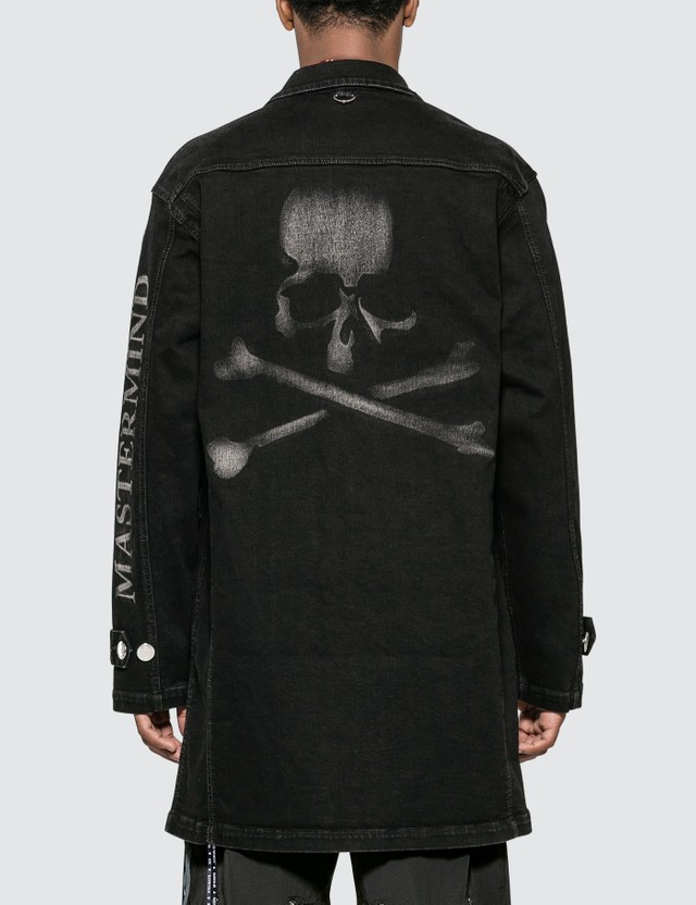 Mastermind World Skull Print Long Denim Jacket
